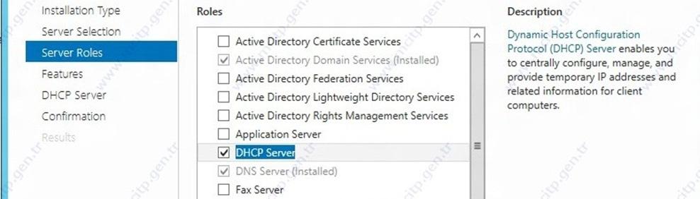 Microsoft SERVER 2012 üzerine DHCP kurulumu