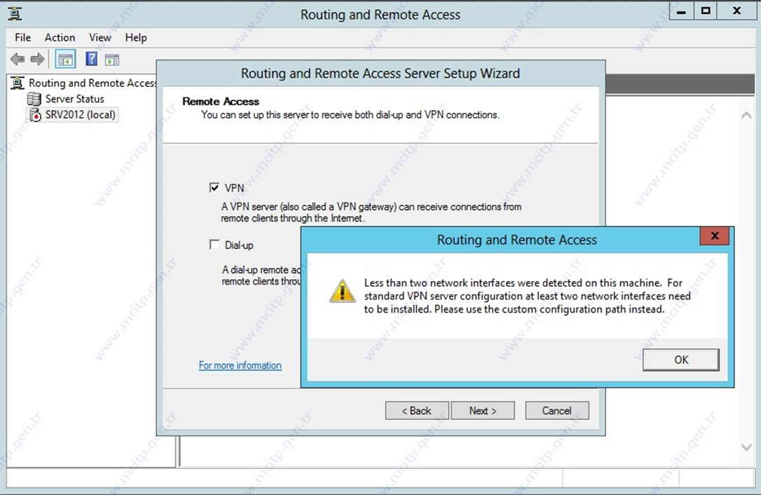 Windows 2012 vpn kurulumu